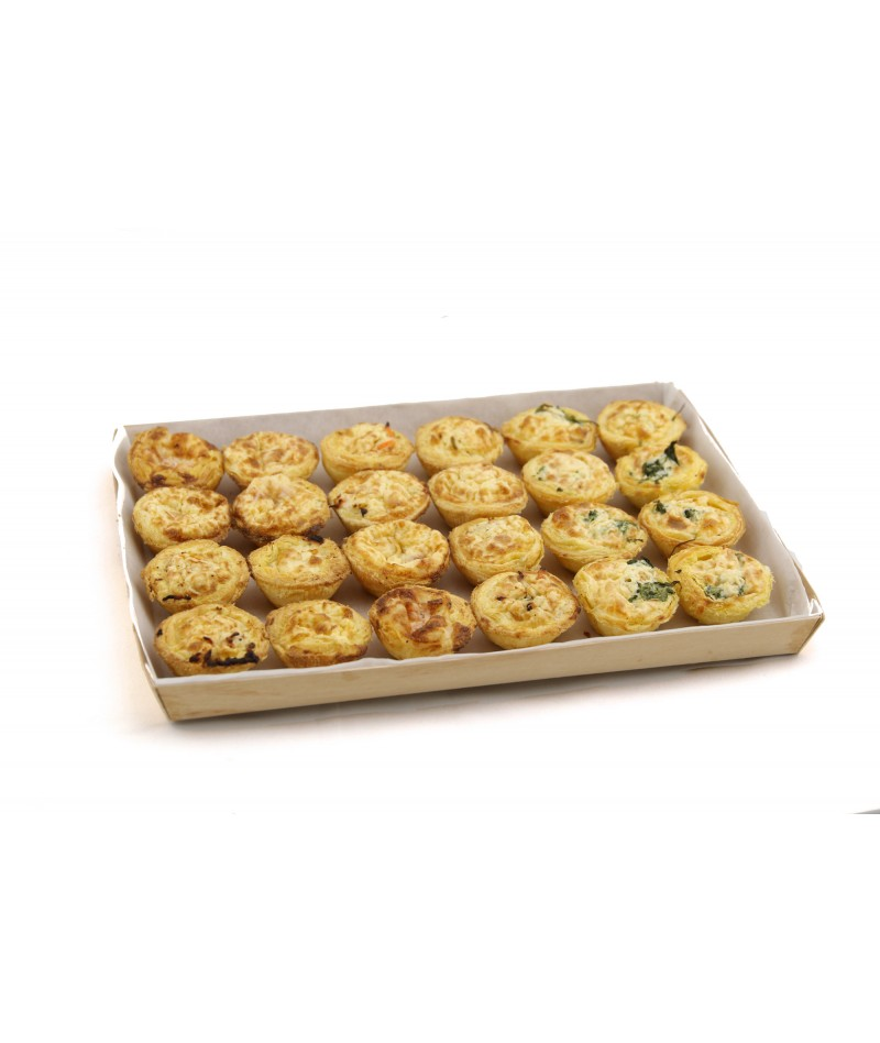 MINI QUICHES SELECTION (24UND)